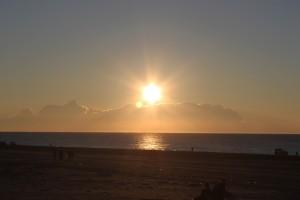 海上の初日の出