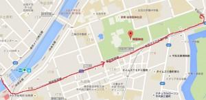 靖国神社 - MAP