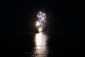 ハワイ - 船上花火