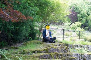 るり渓 - 座禅石