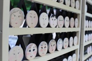 河合神社 - 鏡絵馬