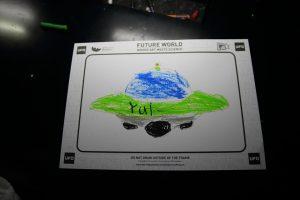 UFOに色を塗って読み取ると