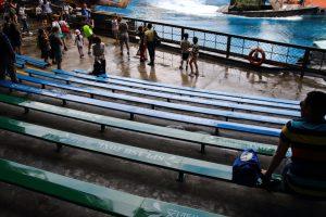 水の濡れ具合で席が分かれる